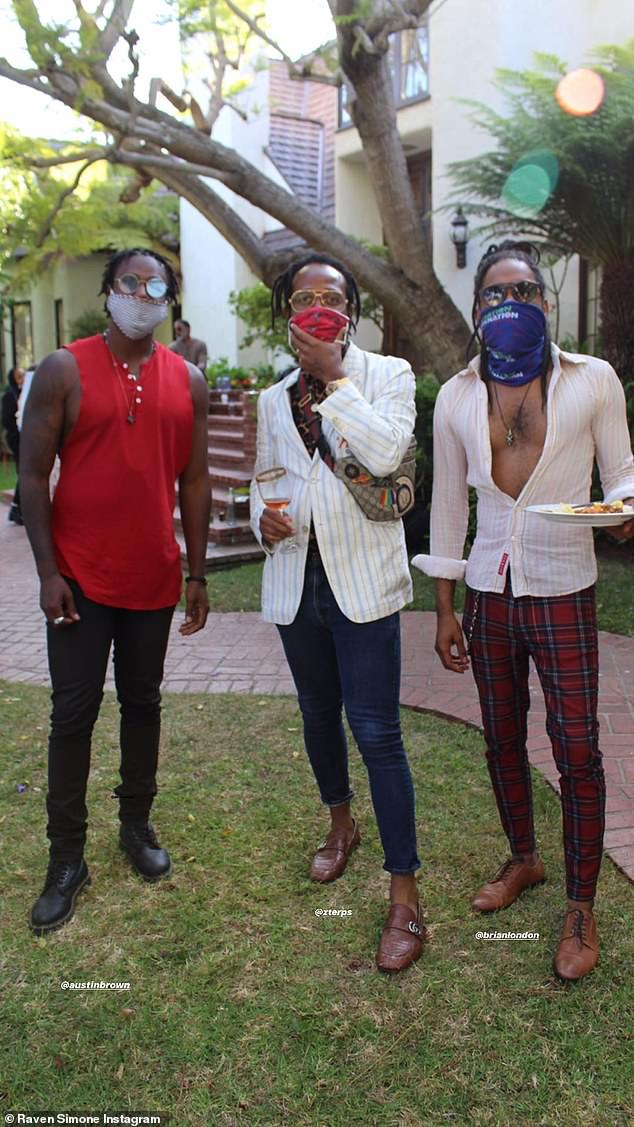 Social distancing: guests were apparently asked to wear masks for the occasion