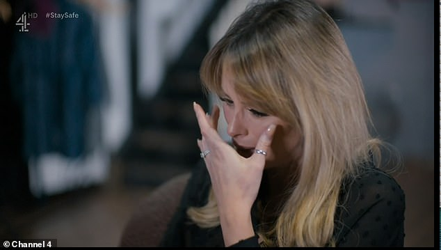 Tears: Rhian admitted it was the lowest point in her life and that she had lost