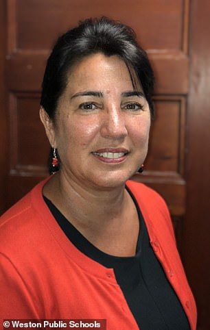 Norfolk District Attorney Michael Morrissey told reporters that Laurie Melchionda (pictured) was shot at her home Wednesday