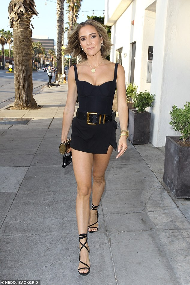 Wow factor: Krisitin Cavallari looked ready for television as she strutted in Los Angeles for his first evening out with the girls since his separation from Jay Cutler, two months before Thursday