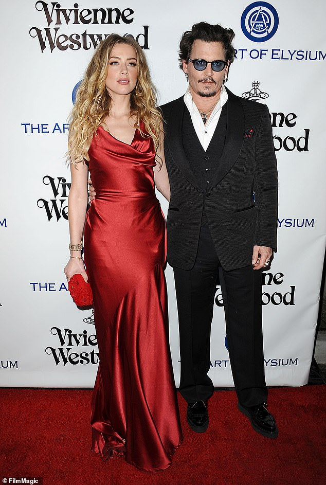 Out of sight: Esparza said Depp was not in the country when listening was bruised, and she claims that she Heard the ai, because she dropped her key to the elevator drops'; shown in 2016