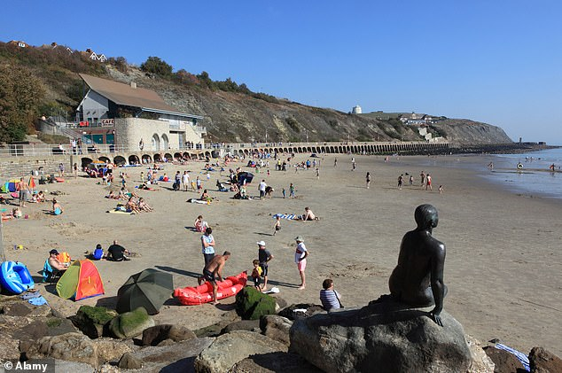 The Kent seaside town of Folkestone (pictured) was one of the top areas in the South for discounts, suggesting that house hunters there may be able to haggle for a good deal