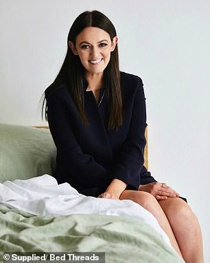 Genevieve Rosen-Billen (pictured) is the brains behind the linen bedding company Bed Threads, and she said your environment is key to good sleep