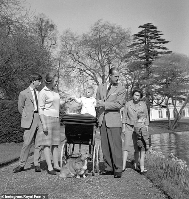 During this time, the Duke of Edinburgh shared a selection of photos from the family album to mark the occasion, showing all four of his children in childhood. On the photo, the Duke of Edinburgh, Queen Anne, Charles and Andrew with a baby Prince Edward in his stroller
