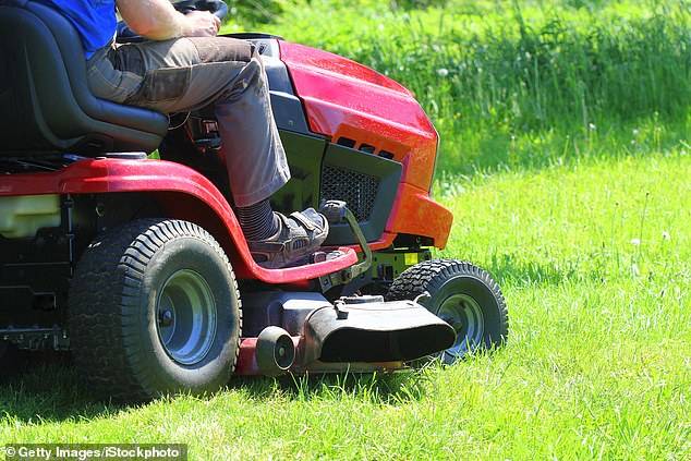 A five-year-old child died in Conewango, New York on Wednesday after getting run over by a lawn mower around 8.30pm. File image of a lawn mower above
