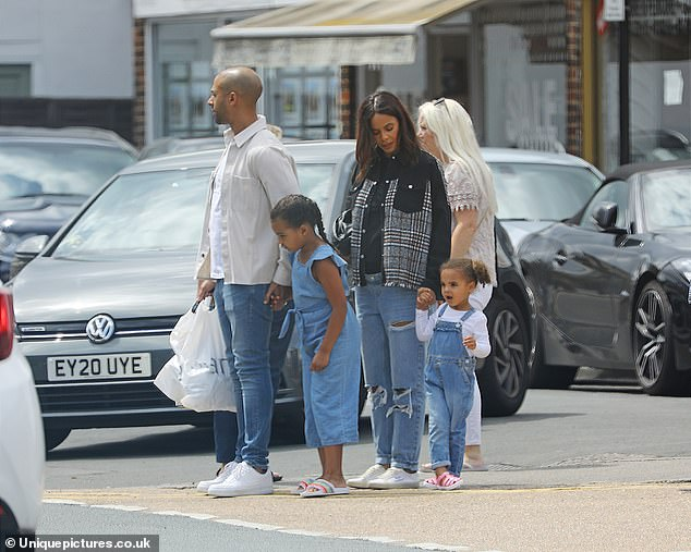 Casual: The JLS singer also wore navy jeans teamed with a simple white T-shirt and jacket