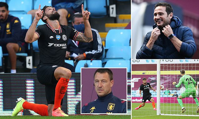 Aston Villa 1-2 Chelsea: Olivier Giroud and Christian Pulisic seal comeback for Frank