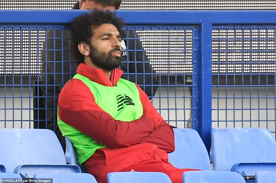 Liverpool star Mohamed Salah was named amongst the substitutes for Jurgen Klopp's side and didn't enter the fray