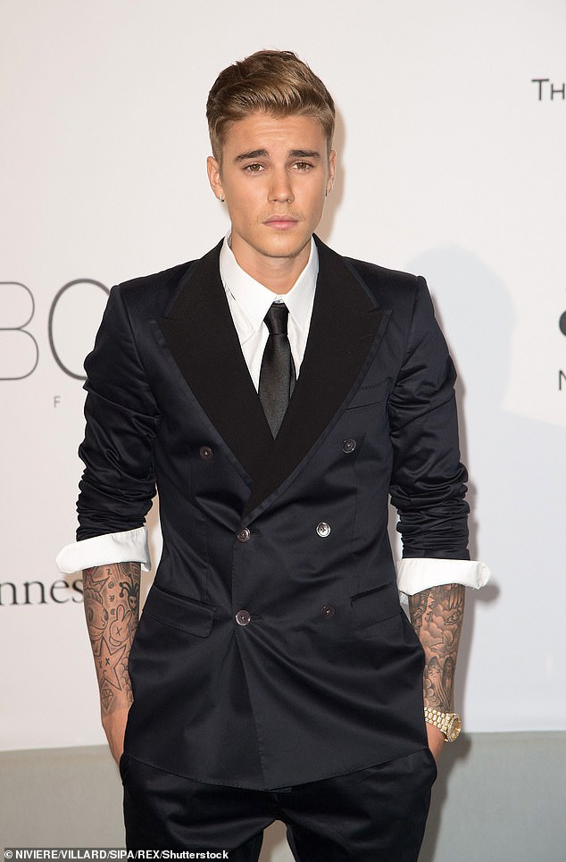 Back in the day: Bieber is seen at the Cannes Film Festival in May 2014 just days after the alleged incident