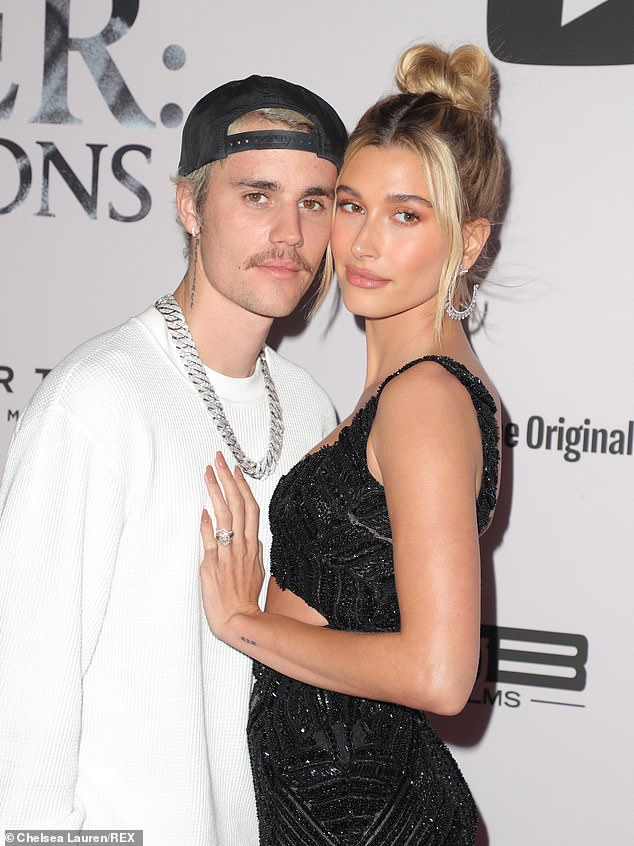 On Monday, after taking time to consult with wife Hailey, pictured, and 'his team', Bieber posted a series of tweets denying the assault allegations leveled against him and threatening legal action against his accusers