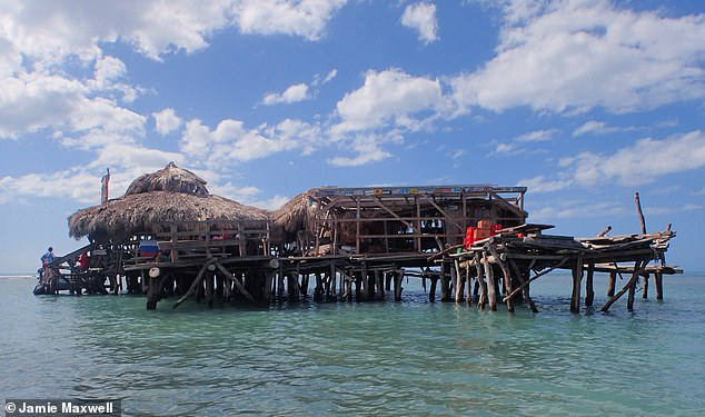 Flickr user Jamie Maxwell took this image of Floyd's Pelican Bar, which is a mile off the Jamaican coast