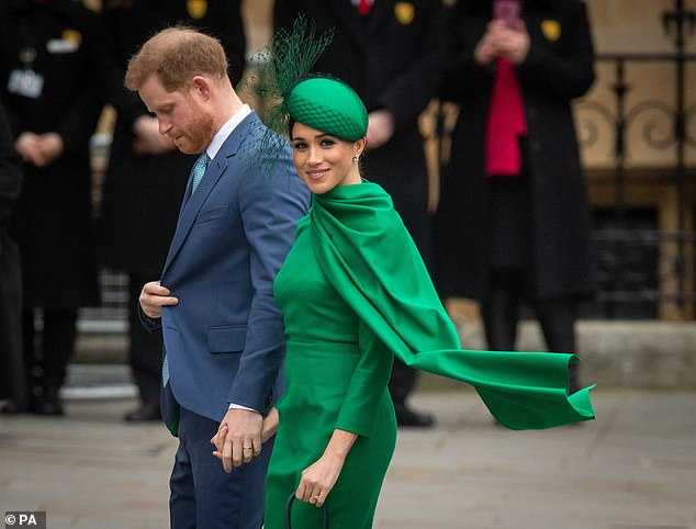 Lady Colin Campbell has said Meghan Markle (pictured with Prince Harry at the Commonwealth Day in March) has received
