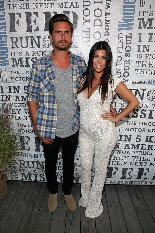 Long story together: Scott and Kourtney dated from 2006 to 2015 - they are pictured here in August 2014