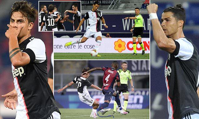 Bologna 0-2 Juventus: Cristiano Ronaldo and Paulo Dybala give Sarri's side winning return