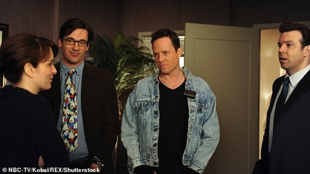Review: In an episode from the sixth season, regular guest star Jon Hamm blackened his skin in a sketch criticizing the racist television series and radio show Amos 'n' Andy;  Still from 30 Rock