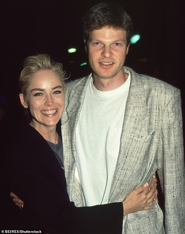 Bing, pictured with Sharon Stone, was renowned for his film production and philanthropy