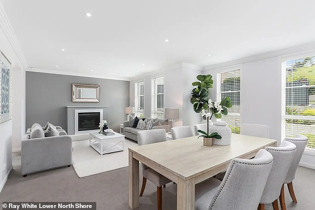 Phelan and Ms Franklin purchased their lavish Frenchs Forest home earlier this year (living room pictured)