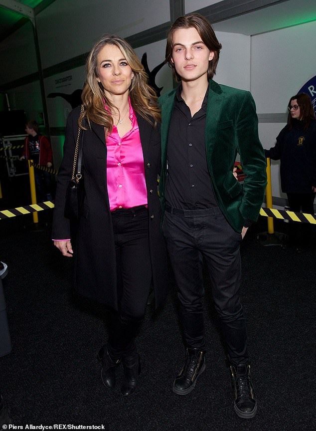 Previously: Their friendship emerged as a result of Bing's on-off relationship with British actress Elizabeth Hurley broke up. Hurley informed Bing after they separated that he was the father of his son, Damian, now 18 years old. Damian and Elizabeth are pictured in London on February 13, 2018