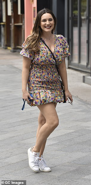 Wild! Kelly Brook, 40, has declared sex gets better with age and that boyfriend Jeremy Parisi, 35, likes a 'confident, curvy woman' (left, pictured on June 19)