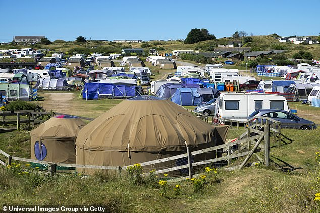 Camping sites in Cornwall (pictured) have been given the green light to repopen