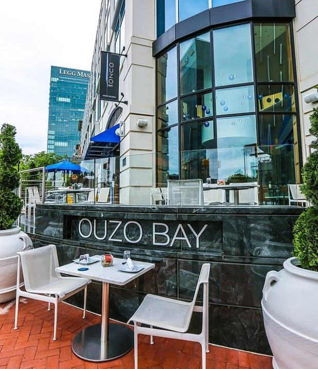 Ouzo Bay in Baltimore shown.  Two managers have been fired from the elegant restaurant after an 'extensive' investigation '