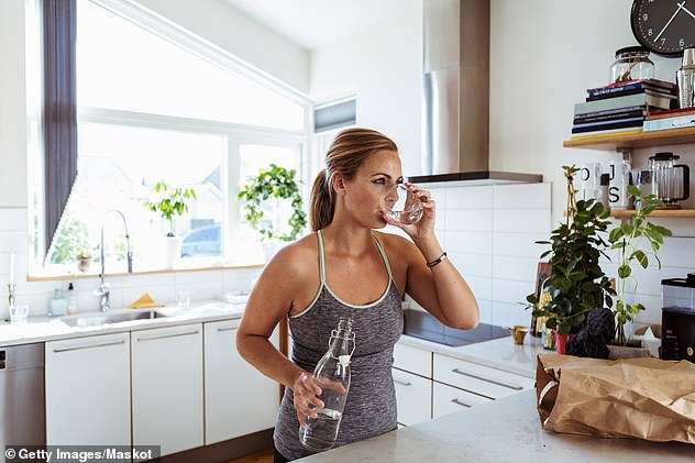 Dr Fielder also said staying hydrated throughout the day can also improve physical performance when exercising