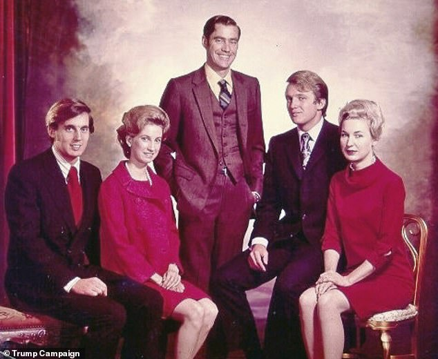 The new will divided the bulk of the inheritance among his living children, meaning Mary and Fred III only got $200,000 each because their father was dead. Pictured l-r: Robert, Elizabeth, Fred Jr, Donald and Maryanne