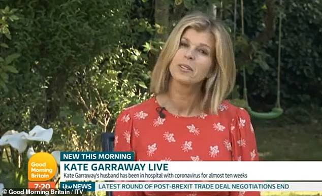 Heartache: Earlier this month, Kate burst into tears revealing that Derek thanked her for `` saving her life '' before falling into a coma