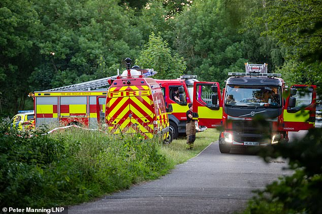 Local residents in Cookham said that there were at least 40 emergency vehicles present, including the vehicles of police, ambulance and firefighters