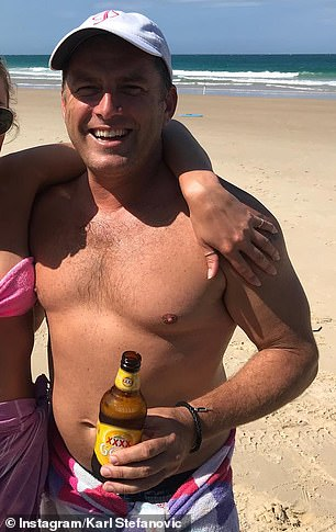 Go Karl! Today star Karl Stefanovic revealed his impressive weight loss during a live weigh in on the show on Wednesday - five weeks after tipping the scales at 105kg (pictured in February 2018)