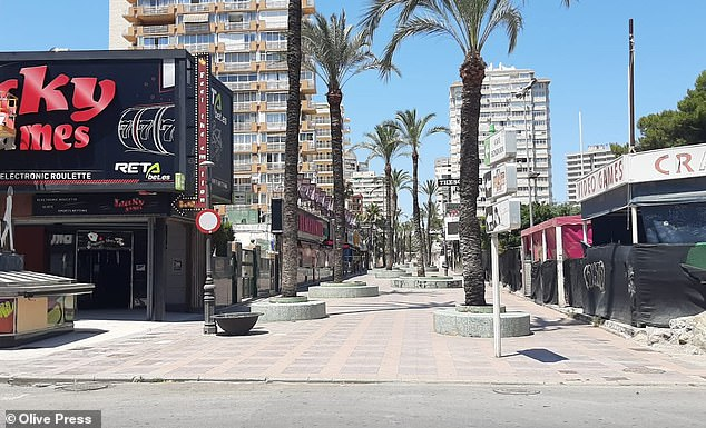 Benidorm generally welcomes millions of visitors each year with the Briton's largest overseas market, but was left deserted after tourism was effectively banned