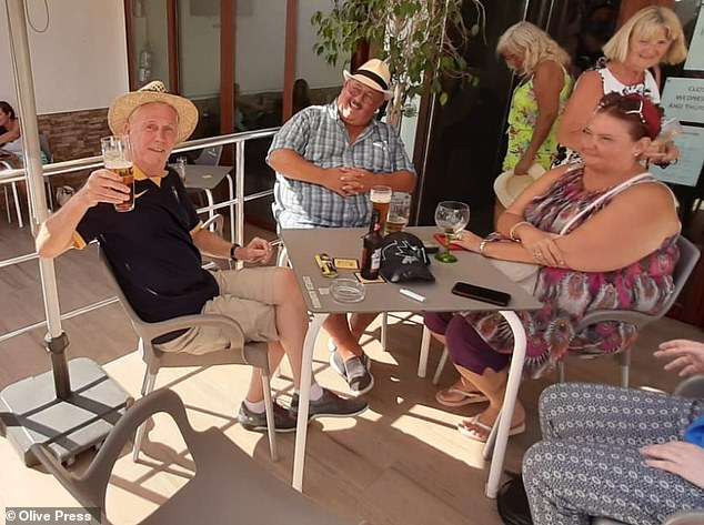 Michael Golden, 69, from Birmingham (left), saw two flights to Benidorm canceled before he was able to board a Sunday saying he wanted to go to Spain as soon as possible, because that all pubs in the UK are closed