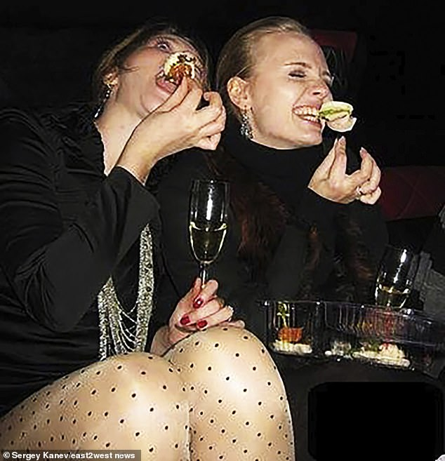 Little is known of Maria (pictured enjoying a takeaway meal and champagne, right), but she is said to be a fan of Little Britain starring David Walliams and Matt Lucas, and she listed her favourite book as 'Memoirs of a Geisha' by Arthur Golden