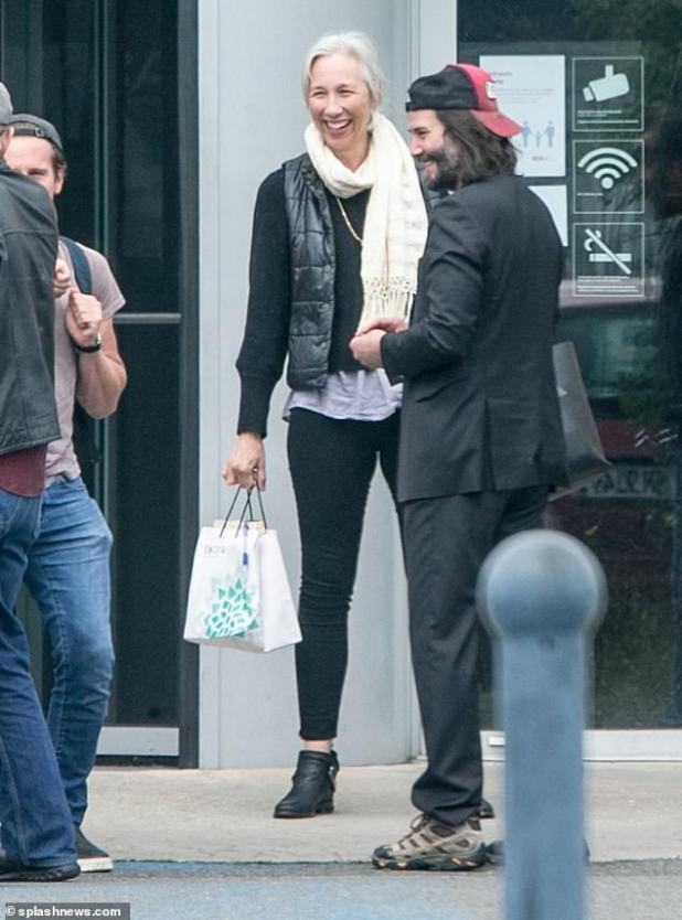 He is back!  Keanu Reeves joined his girlfriend Alexandra Grant at Berlin's Schönefeld Airport late last week along with his co-stars in The Matrix 4.