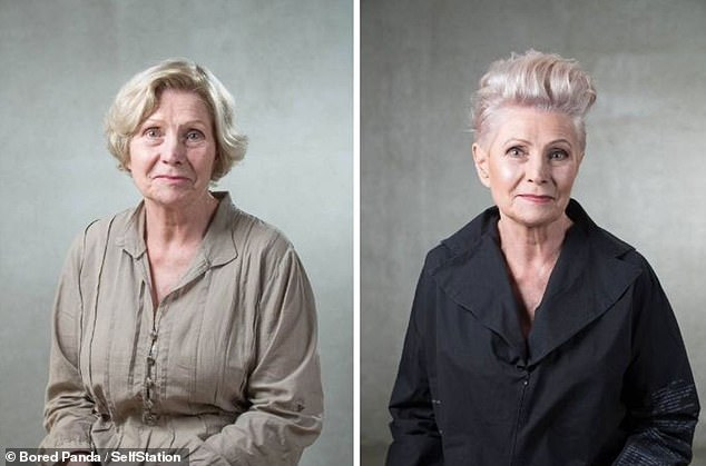 Jurgita Malakauskait¿, from Lithuania, revealed how she decides on the perfect haircuts for her clients. Pictured: a woman completely updated her style thanks to a new colour and shorter crop