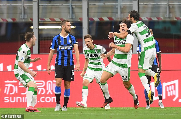 Giangiacomo Magnani stunned Inter as Sassuolo came from behind twice to earn a 3-3 draw