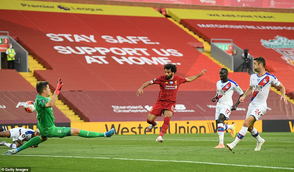 The Egyptian was a menace throughout and made a telling contribution just before half-time to net Liverpool's second goal