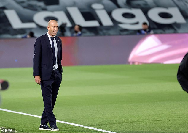 Real Madrid boss Zinedine Zidane watched on as his side secured victory in the LaLiga clash