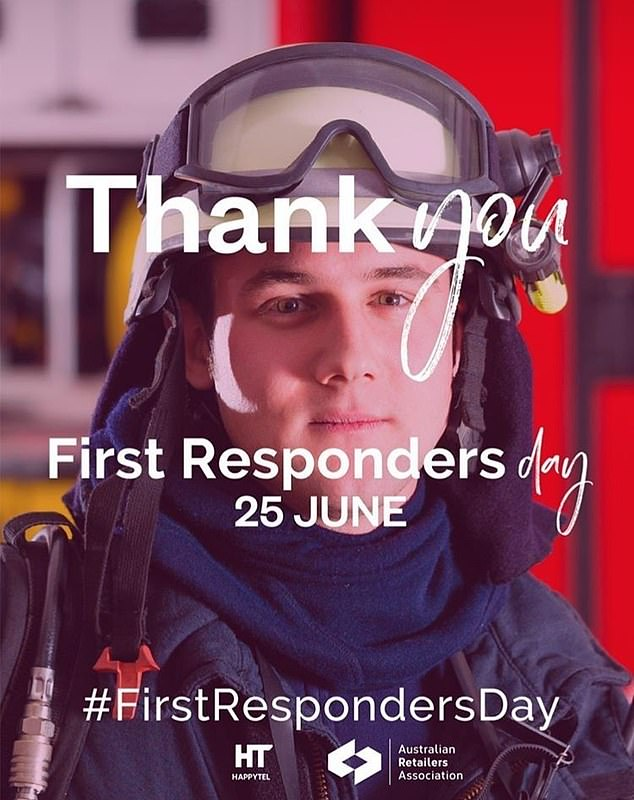 First responders will be eligible for a range of discounts on Thursday as stores like Myer, Dymocks and JB Hi-Fi are also participating in the retail event