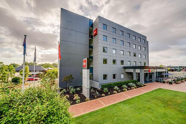 Three new cases have been confirmed in New Zealand, including one person who was quarantining at the Ibis Hotel (pictured) in Rotorua on the country's north island