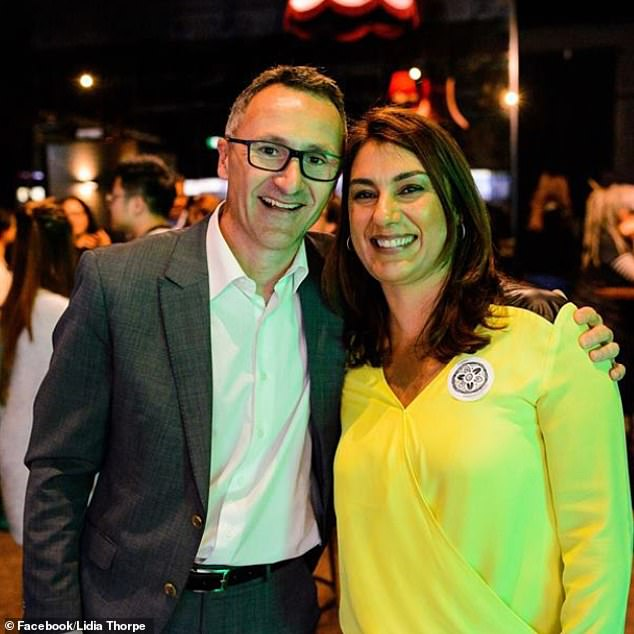 Her electoral defeat in November 2018 opened an opportunity, with Ms Thorpe this week defeating 70-year-old private school-educated Queen's council barrister Julian Burnside, in a ballot of Greens party members, to replace former Greens leader Richard Di Natale (pictured left) as a senator for Victoria