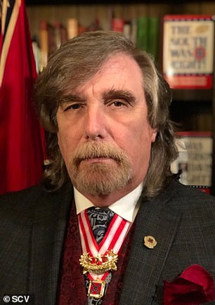 Paul C. Gramling Jr. (pictured), who is listed as the SCV 'Commander in Chief,' told the Columbia Daily Herald on Wednesday that his nearly 123-year-old organization was solely responsible for the act