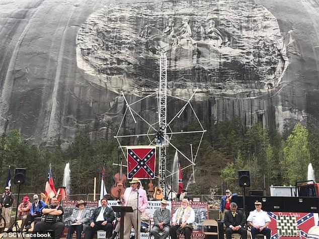The Sons of Confederate Veterans is described as a non-profit, charitable organization, which was founded on July 1, 1896. The group is known for resisting any attempt to remove Confederate monuments, such as Stone Mountain in Georgia (pictured)