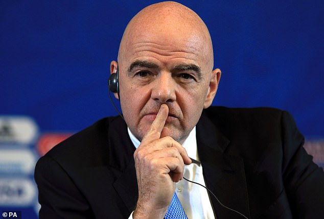 FIFA Council president Gianni Infantino (pictured) holds the other vote and is reportedly backing Australia and New Zealand's bid