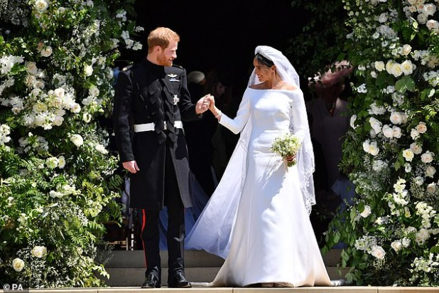 The Buckingham Palace garden party took place days after Meghan and Prince Harry were married in a lavish ceremony at Windsor Castle.