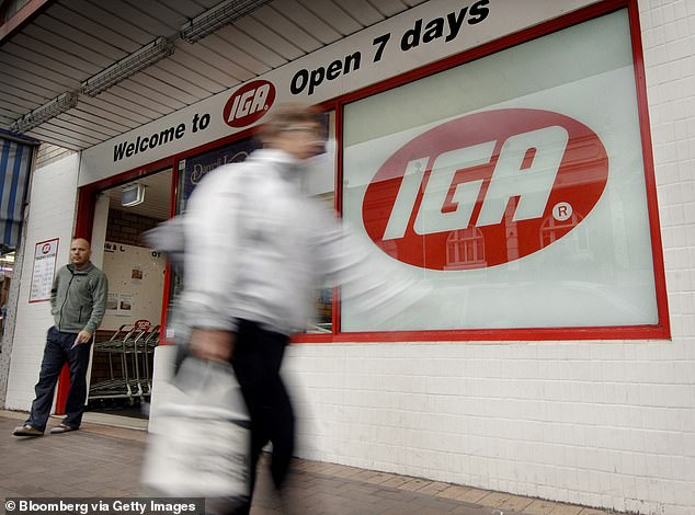 The recalled product is sold at IGA supermarkets (pictured) and independent retailers