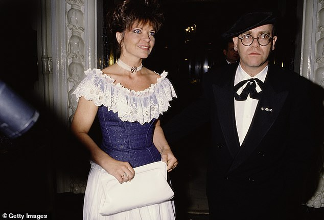 Elton John with his then-wife Renate Blauel at a gala charity performance in May 1988