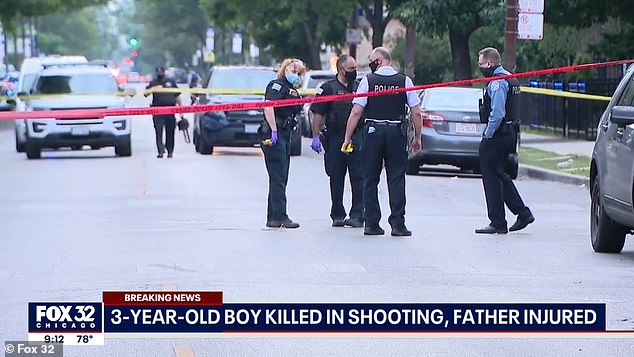 Mekhi's 27-year-old father was the intended target when someone fired shots at the vehicle, but he is not cooperating with detectives