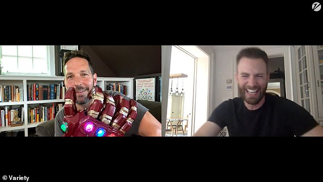 Horsing around with the Infinity Gauntlet: The pair of hunky actors, who both portray superhero Avengers in the blockbuster Marvel Cinematic Universe, get along splendidly