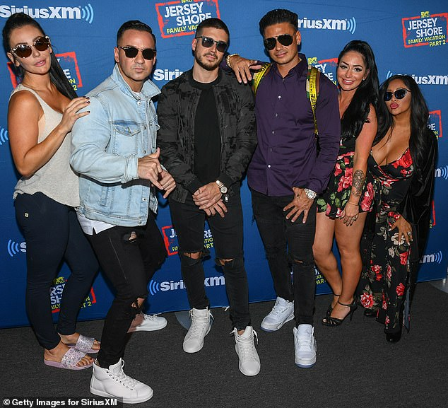 Moving on: Jersey Shore Family Vacation was renewed for a fourth season, according to Deadline. Nicole 'Snooki' Polizzi announced she was leaving the show in the highly rated finale; pictured in 2018